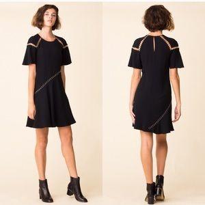 NWT A.L.C Mitchell Black Ring Dress (US 4)